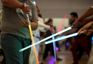 Light sabers in action