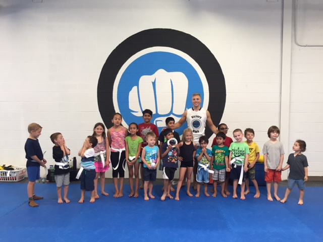 Kids learn discipline with karate lessons